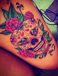 tatuajes-de-calaveras-mexicanas-tatuajes-de-calaveras-con-reloj