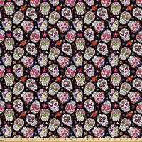 ABAKUHAUS-Calaveras-Elastizada-Estampada-Multicolor-telas-calaveras