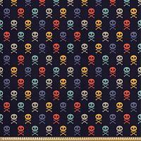 ABAKUHAUS-Calaveras-Manualidades-160x1000cm-Multicolor-telas-calaveras