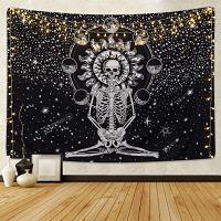 Kokmn-Calavera-Amantes-Esqueleto-habitación-tapiz-de-calavera