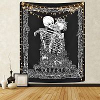 LOMOHOO-Calavera-Esqueleto-decoración-148cmX200cm-tapiz-de-calavera