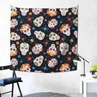 Tapices-tapicería-Mexicana-Calavera-Pulgadas-tapiz-de-calavera